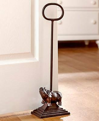 Cast Iron Pig Country Door Stopper Rustic Farm Barn Handle