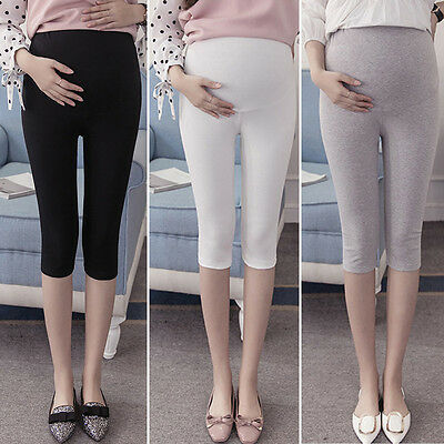Pregnant Women's Large Long Abdominal Trousers Adjustable Stretch Belly Leggings