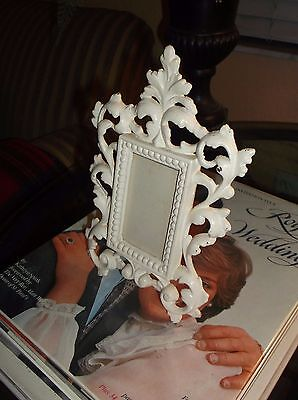 "Antique Style  Vtg. ""shabby Chic"" Scroll And Acanthus Leaf Motif Picture Frame"
