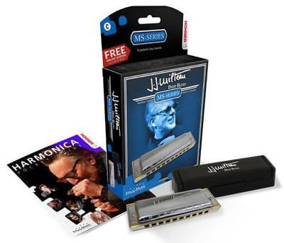 Hohner MS Series JJ Milteau Deep Blues Harmonica in the Key of D