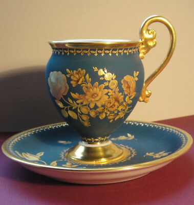 Nymphenburg Biedermeier Sameltasse Mit Untertasse - Goldstaffage, Marriage