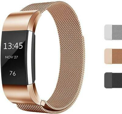 Band Stainless Steel Metal Milanese Loop Wristband strap For Fitbit Charge 2