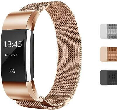 For Fitbit Charg 2 Band Stainless Steel Metal Milanese Loop Wristband strap Gift