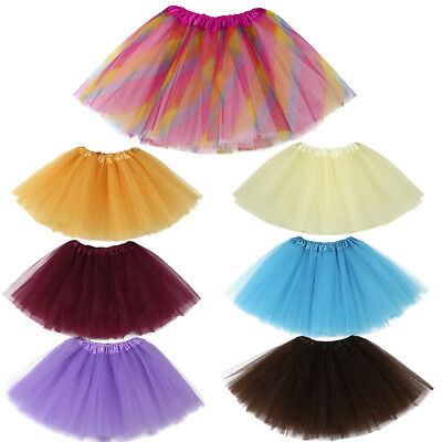 Fashion Cute Baby Girls Kids Colorful Solid Tutu Ballet Skirts Fancy Party Skirt