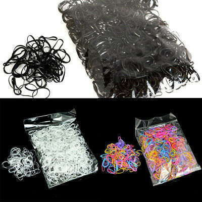 1000Pcs Women Girl Small Elastic Rubber Band Ponytail Holder Hair Ties Ropes New