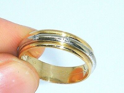 18ct Gold 18k Gold  Diamond Spinner Wedding band Ring size L