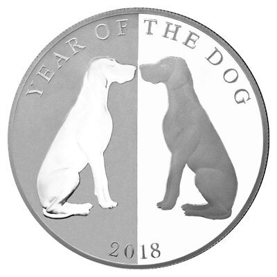 2018 Tokelau Year of the Dog Mirror Dog 1 oz Silver Lunar Proof $5 OGP SKU49559