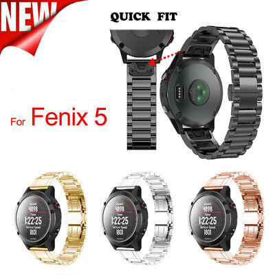 Genuine Stainless Steel Bracelet Quick Release Fit Strap Band For Garmin Fenix 5