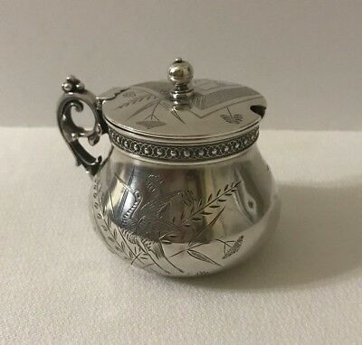 Antique Aesthetic Sterling Mustard Pot