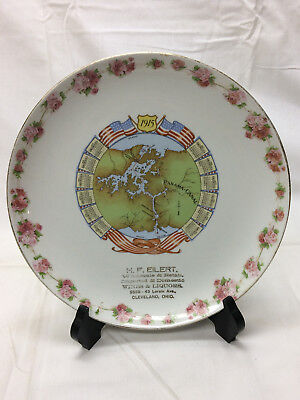 Vtg 1915 Panama-Canal H. F. Eilert Cleveland OH Vodrey China Plate Calendar