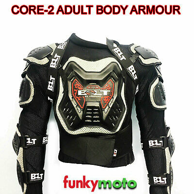 Bolt Core 2 Adult Body Armour Jacket Deflector Mx Enduro Motocross Black