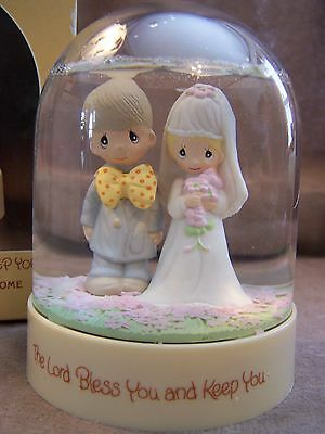 """Precious Moments """"The Lord Bless You And Keep You"""" Flower Dome - NIB"""