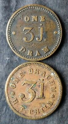 Two Apothcary Weights, One Drachm and One Dram