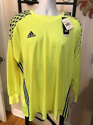 89c5bdf2682 ADIDAS MENS ONORE 16 GK Goal Keeper JERSEY w/Elbow Pads ~ Size XL ...