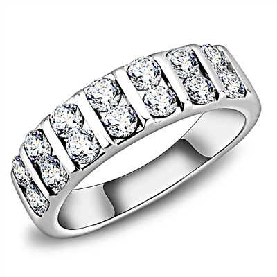 Women's Coctail AAA Grade Cubic Zircon CZ Stainless Ring 5-10 TK3504