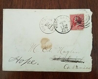 """1891 Stamped Cover Ed Haglin MARSHAL for """"HANGING"""" JUDGE ISAAC PARKER"""