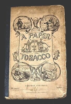 1830 Pleasures of Tobacco Illustrated Cigar Cigarettes Pipes Snuff