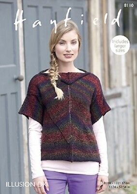 Hayfield Illusions Womens Cardigans & Jackets 8110 Knitting Pattern