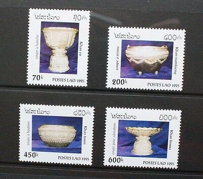 LAOS 1995 Antique Vessels Chalice. Set of 4. Mint Never Hinged. SG1447/1450.
