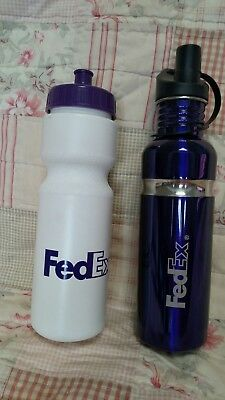 Fedex Purple 1 Stainless Steel Water Bottle New 1 Plastic Water Bottle Set Of 2