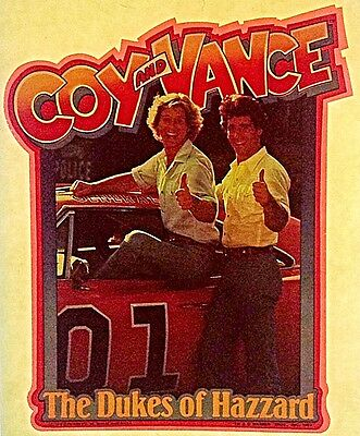 Vintage 1982 Coy and Vance Iron-On Transfer  Dukes Of Hazzard Super Rare!
