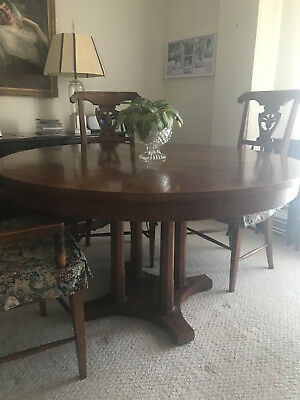 Baker Milling Road Antique Pedastal Dining Room Table 50 inches