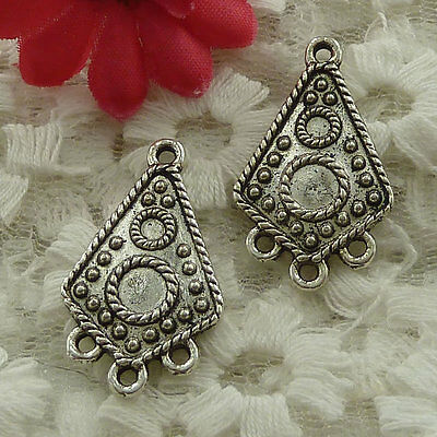 free ship 40 pieces Antique silver earring connector 29x19mm #3127