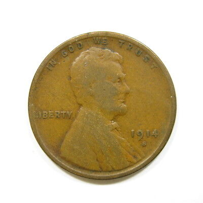 1914-S Lincoln Head Cent Wheat Penny