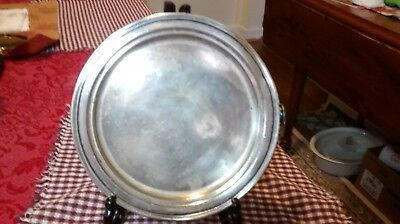 Antique Silver Plate Hot Water Warming Dish silver solderet