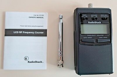 Radio Shack LCD RF Frequency Counter Cat. No. 22-306