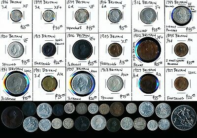 42 Old British Silvers & Coppers (Outstanding Lot) See Images > No Reserve