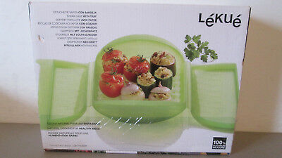 Lekue 3-4 Person Steam Case With Draining Tray and Bonus 10 Minute Cookbook