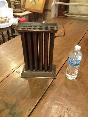 Antique Tin Tinware 18 Tube Candle Mold Makers Early Primitive ~ Was A Lamp