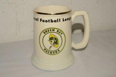 1960s Vtg GREEN BAY PACKERS nfl football STEIN Mug TANKARD Lombardi Era RARE!