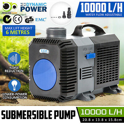 Submersible Aqua Aquarium Fountain Pond Marine Water Pump Fish Tank 10000L/H