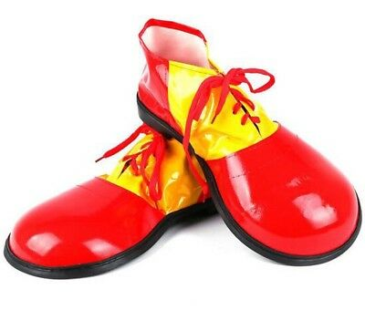 Adult Clown Shoes Costume Shoe Bright Yellow and Red Fancy Dress Party Circus