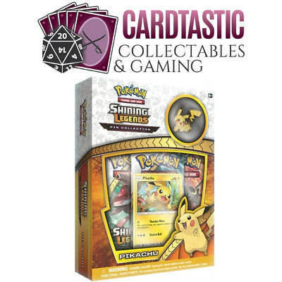 Pokemon TCG Shining Legends Pikachu Pin Collection