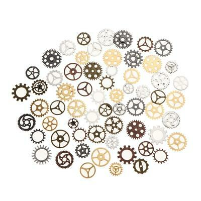 100 Gram Vintage Steampunk Watch Gears Cogs Wheel Charms For Jewelry Making