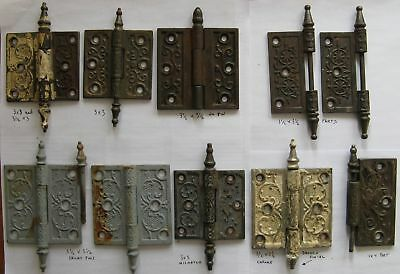 OLD DOOR HINGE LOT STEEPLE TOP EASTLAKE ARTS CRAFTS Part Restore Repair