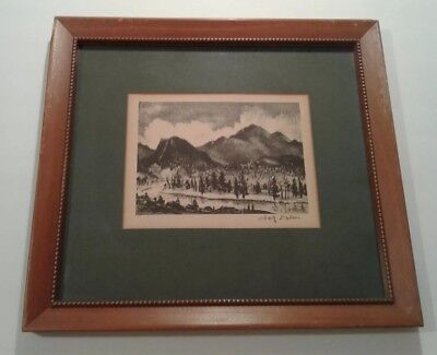 Adolph Dehn TWILIGHT IN THE ROCKIES Signed Original Lithograph American Art WPA