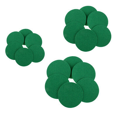 6 Pieces Air Hockey Table Felt Pushers Replacement Felt Pads Green