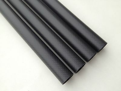 25mm OD x 20mm ID Carbon Fiber Tube 3k 500MM Long (Roll Wrapped) tubing 25*20