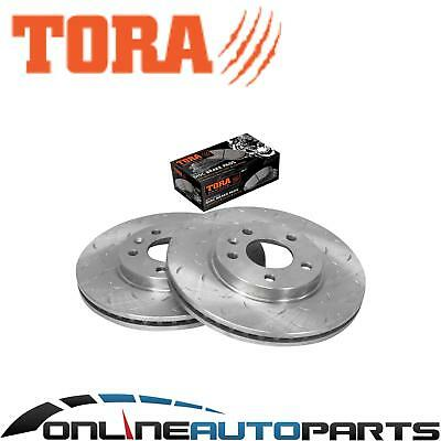 Front Slotted Dimple Drilled Disc Brake Rotors + Pads Cruze JG JH 09~14 (300mm)