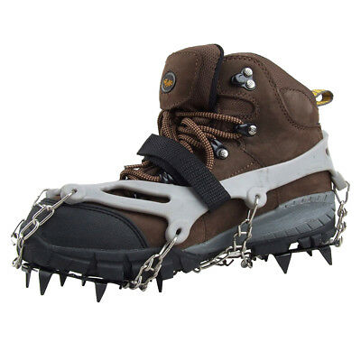 2x Steigeisen rutschfeste Schuhe Abdeckung Freien Ski Eis Schnee Wandern R8C9