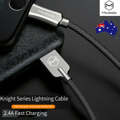 MCDODO Zinc Alloy USB Lightning Cable Data Sync Charger for iPhone X 8 7 6s Plus