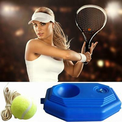 Tennis Ball Back Base Trainer Set Rubber Band for Single Training Practice Pro