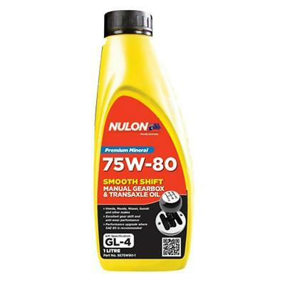 Nulon 75W-80 Smooth Shift Manual Gearbox and Transaxle Oil 1L SS75W80-1 Free Shi