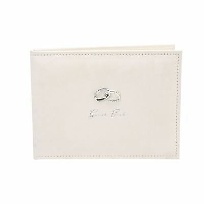 Amore Suede Guest Book with Silver Rings 40 pages