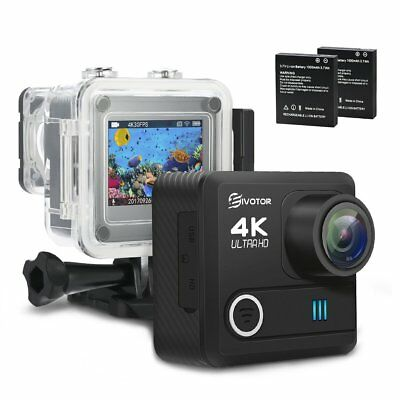 Sport Camera, EIVOTOR 4K WiFi Waterproof Action Camera 1080P Ultra HD Camcorder