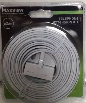 Telephone Extension Cable 25m Kit Maxview,Brand New